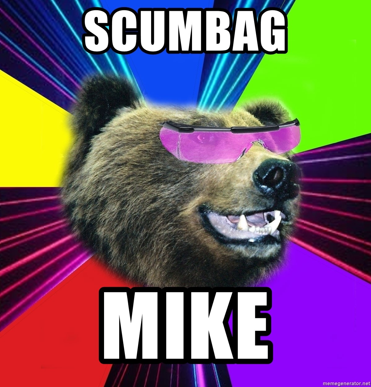 Party Bear - Scumbag Mike