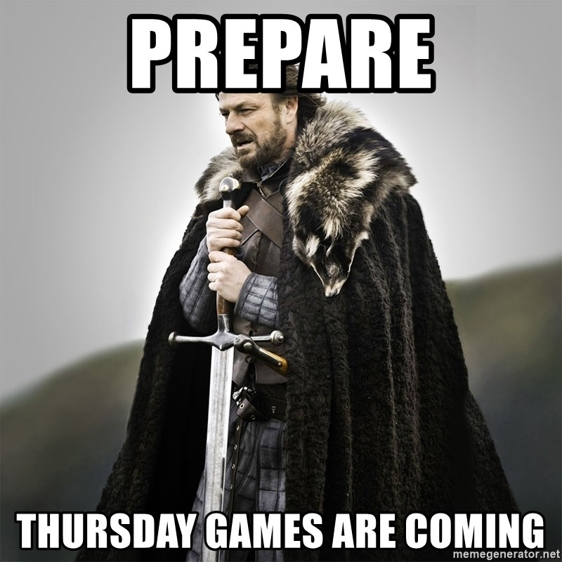 Game of Thrones - PREpare thursday games are coming