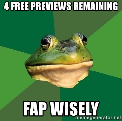 Foul Bachelor Frog - 4 free previews remaining fap wisely