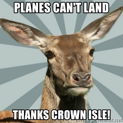 Comox Valley Deer - Planes can't land thanks crown isle!