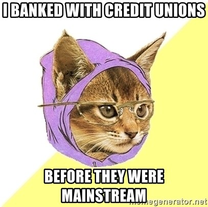Hipster Kitty - I banked with credit unions before they were mainstream