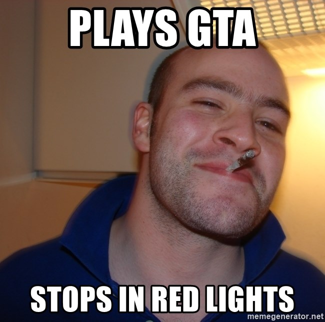 Good Guy Greg - PLAYS GTA STOPS IN RED LIGHTs