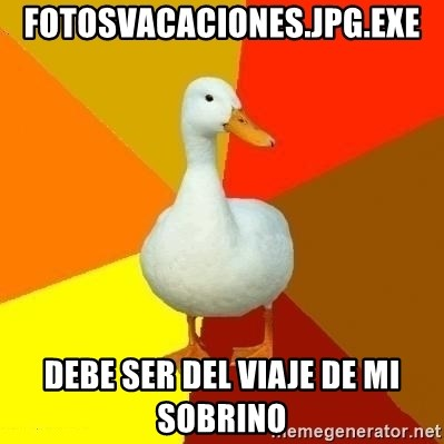 Technologically Impaired Duck - FOTOSVACACIONES.JPG.EXE DEBE SER DEL VIAJE DE MI SOBRINO