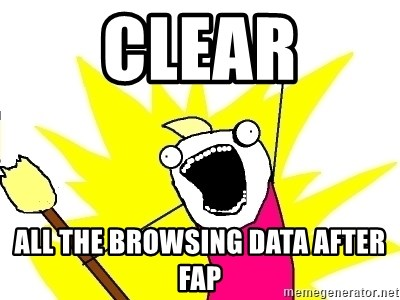 X ALL THE THINGS - CLEAR ALL THE BROWSING DATA after fap