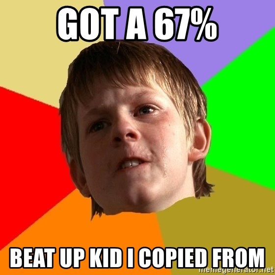 Angry School Boy - got a 67% beat up kid I copied from