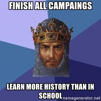 Age Of Empires - Finish all campaings learn more history than in school