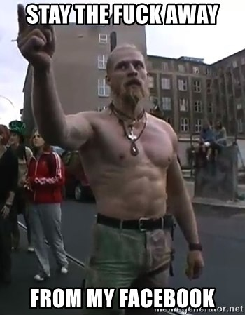 Techno Viking - STAY THE FUCK AWAY FROM MY FACEBOOK