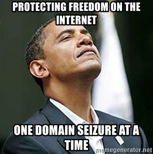 Pretentious Obama - protecting freedom on the internet one domain seizure at a time