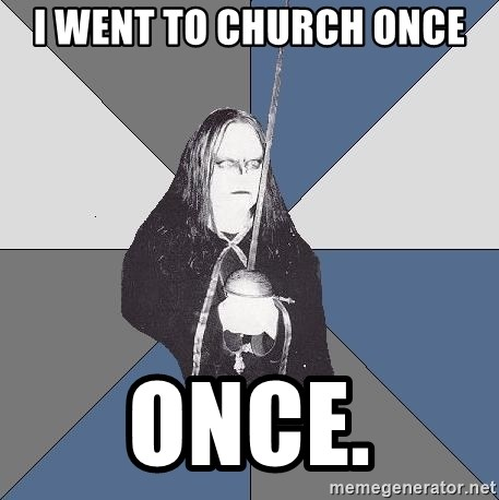 Black Metal Sword Kid - i went to church once once.