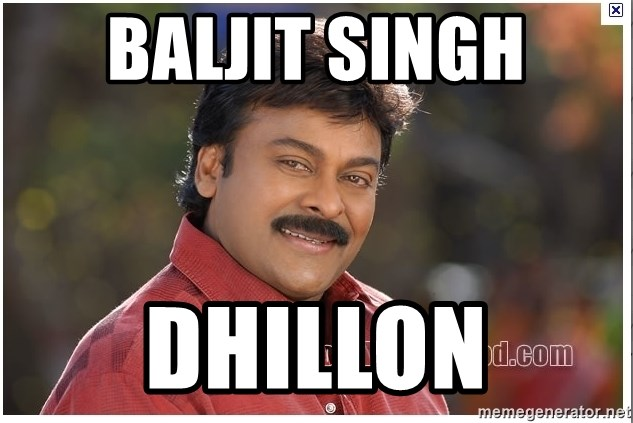 Typical Indian guy - Baljit singh dhillon