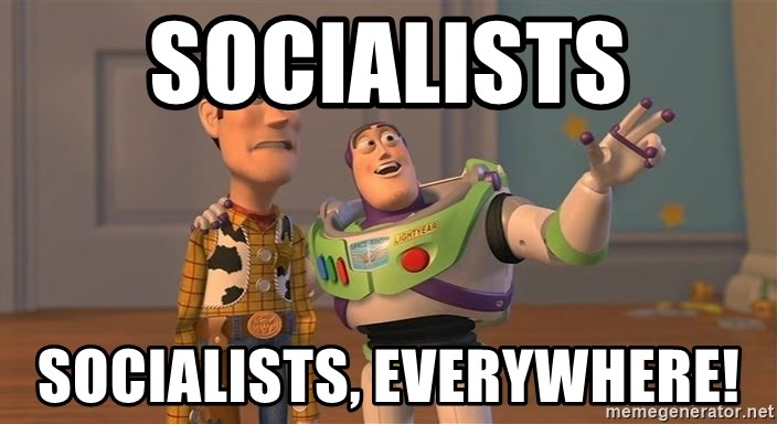 Anonymous, Anonymous Everywhere - Socialists Socialists, everywhere!