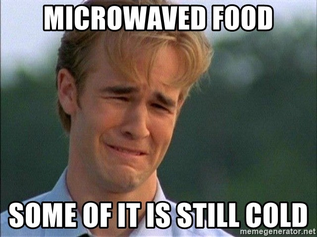 Crying Man - Microwaved Food Some of it is still cold
