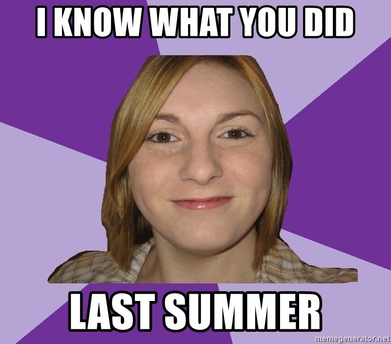Generic Fugly Homely Girl - I know what you did last summer