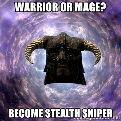 Skyrim - Warrior or Mage? Become Stealth Sniper
