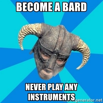 skyrim stan - become a bard never play any instruments