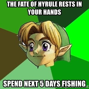 Link - The fate of hyrule rests in your hands spend next 5 days fishing