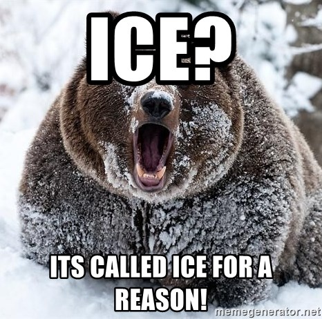 Clean Cocaine Bear - ice? its called ice for a reason!