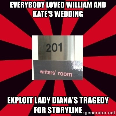 Gossip Girl Writers - everybody loved william and kate's wedding exploit lady diana's tragedy for storyline