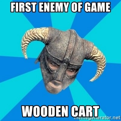 skyrim stan - first enemy of game wooden cart