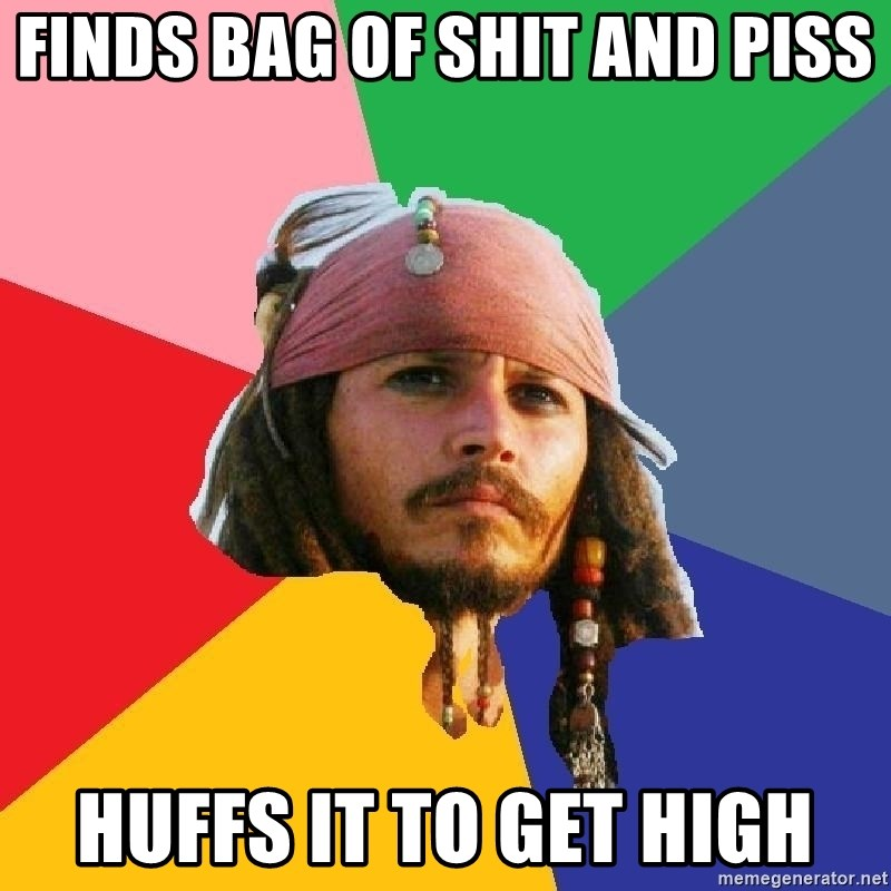 Do Drugs Depp - finds bag of shit and piss huffs it to get high