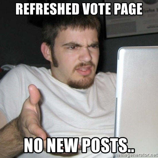 Wtf Shz - Refreshed vote page no new posts..