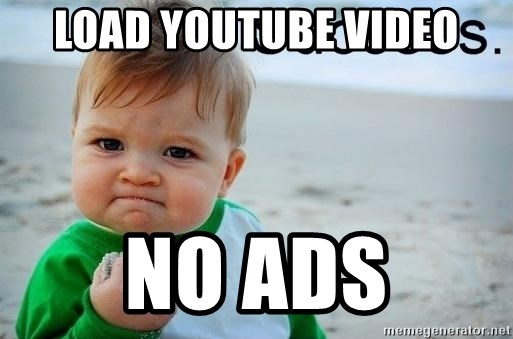 success baby - Load youtube video no ads