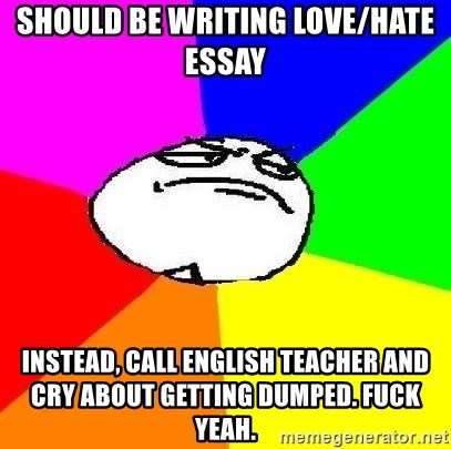 love and hate essay