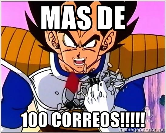 Over 9000 - MAS DE 100 CORREOS!!!!!