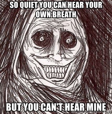 Horrifying Ghost - so quiet you can hear your own breath but you can't hear mine