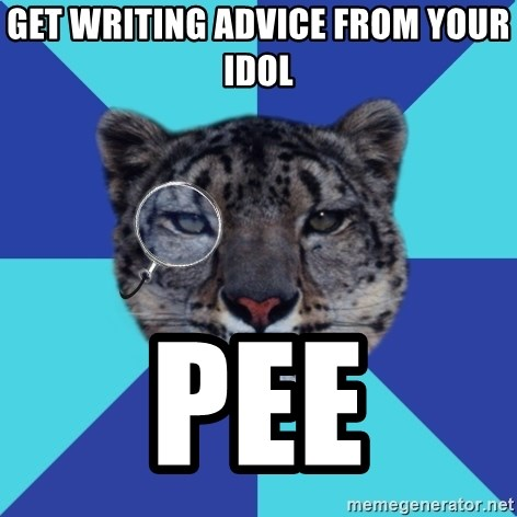 Writer Leopard - get writing advice from your idol pee