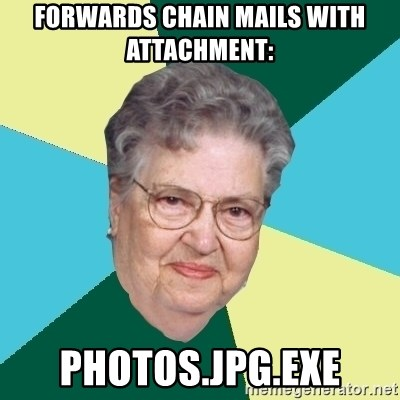 Evil Granny - FORWARDS CHAIN MAILS WITH ATTACHMENT: PHOTOS.JPG.EXE