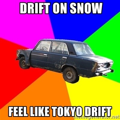 AdviceCar -  drift on snow feel like tokyo drift