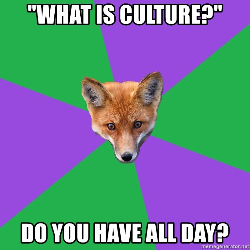 """Anthropology Major Fox - """"What is culture?"""" Do you have all day?"""