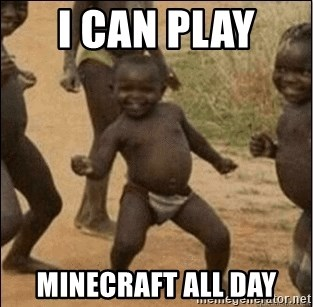 Third World Success - I can play  Minecraft all day