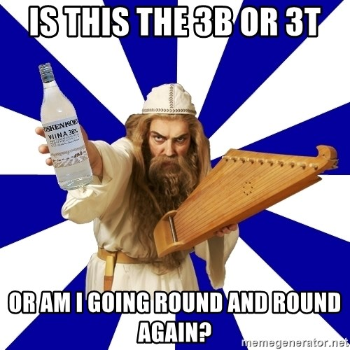 FinnishProblems - Is this the 3B or 3T Or am I going round and round again?