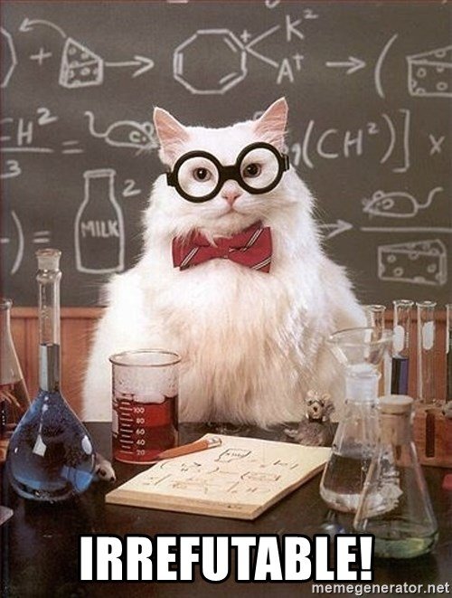 Science Cat - irrefutable!