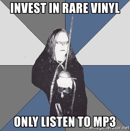 Black Metal Sword Kid - invest in rare vinyl only listen to mp3