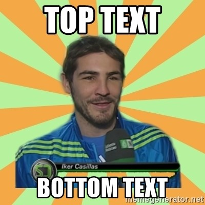 Iker Casillas - TOP TEXT BOTTOM TEXT