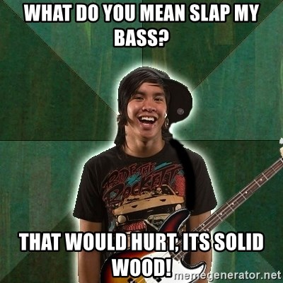 Progressive Bassist - what do you mean slap my bass? that would hurt, its solid wood!