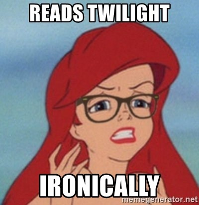 Hipster Mermaid - reads twilight ironically