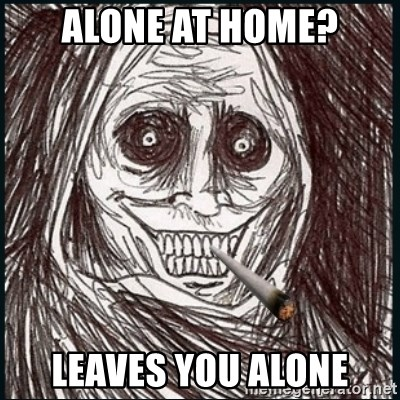 Good Guy Ghost  - Alone at home? Leaves you alone