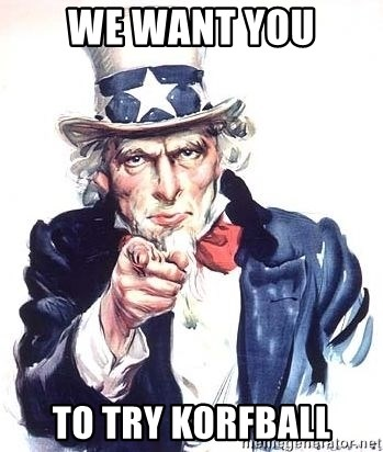 Uncle Sam - WE WANT YOU TO TRY KORFBALL