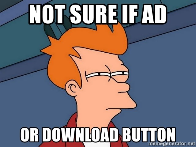 Futurama Fry - Not sure if ad or download button