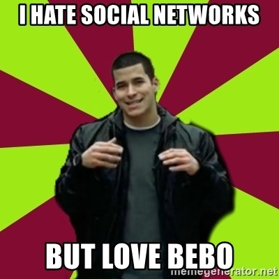 Contradictory Chris - i hate social networks but love bebo