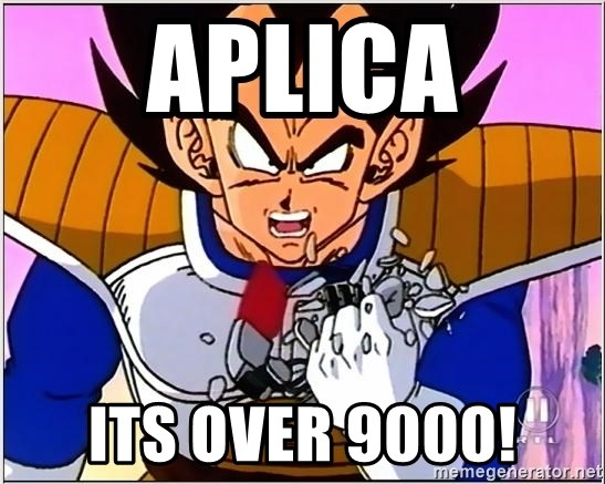 Over 9000 - Aplica its over 9000!
