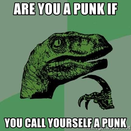 Raptor - Are you a punk if  YOU CALL YOURSELF A PUNK