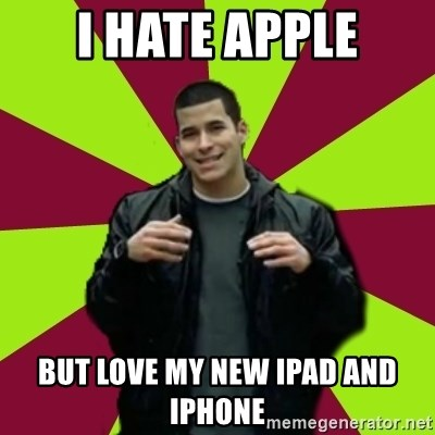 Contradictory Chris - I HATE APPLE BUT LOVE MY NEW IPAD AND IPHONE