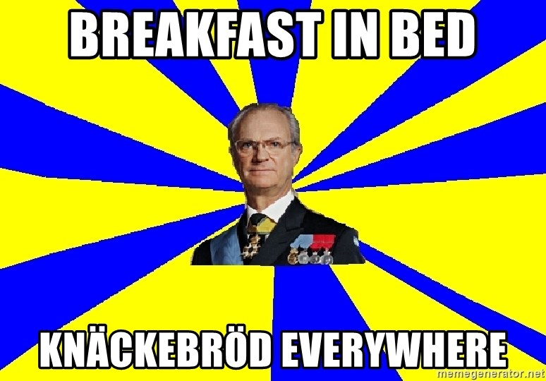 swedishproblems.tumblr.com - breakfast in bed knäckebröd everywhere