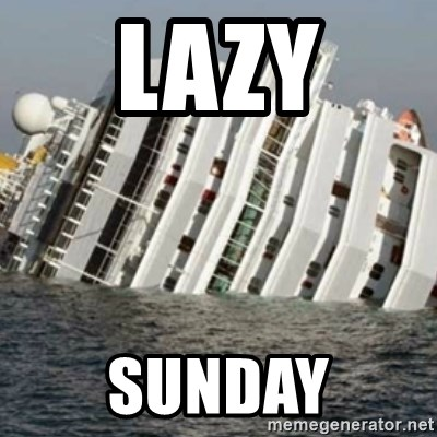 Sunk Cruise Ship - LAZY SUNDAY