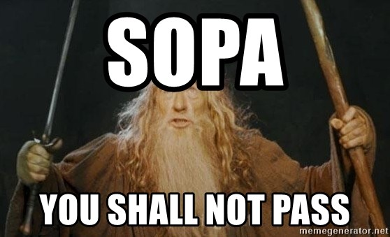You shall not pass - SOPA You Shall not pass